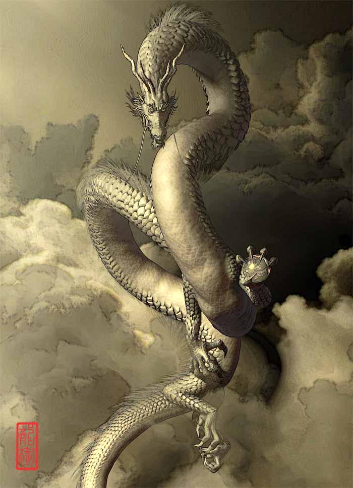 龍の絵「和龍」